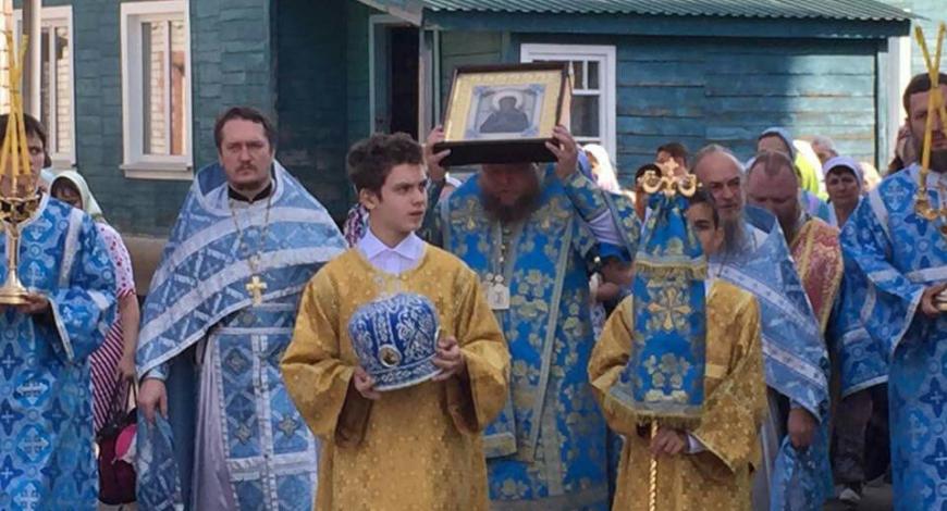 Рубцовск. Сегодня На день «Семистрельной» иконы Божией Матери в Михайловском Соборе помолились на Литургии.