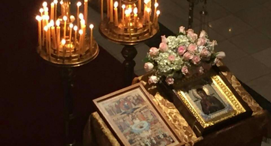 Оттава, ц. Покрова Божией Матери. Молебен с чтением акафиста у иконы «Умягчение злых сердец».