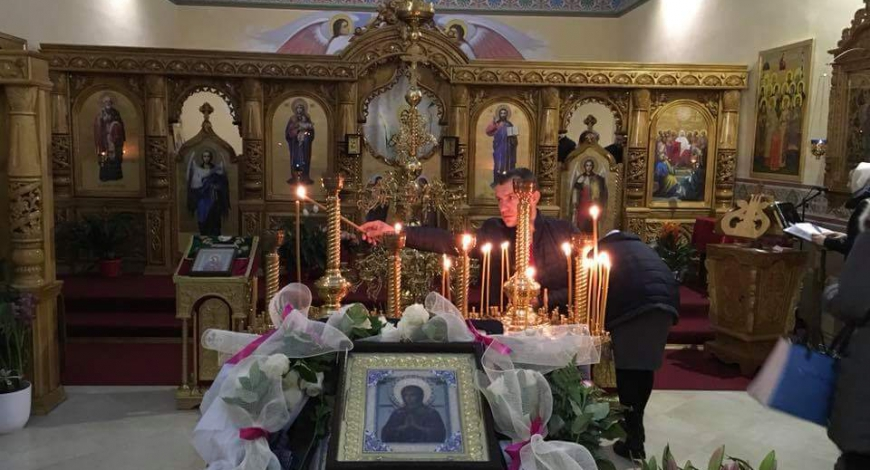 Утро перед Литургией. Брешиа, Италия. Церковь Сошествия Святаго Духа, Московская Патриархия.