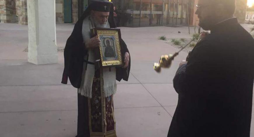 На собрании духовенства Румынской церкви. Аризона, США.