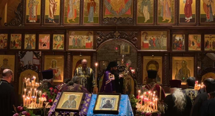 Престольный праздник в церкви в честь прп. Марии Египетской, Атланта, США. Архиерейская служба. Встреча епископа Манхэттенского Николая.
