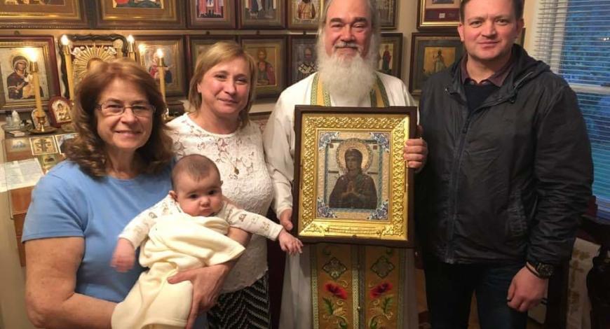 Святая икона к нам вернулась в самый день святой Пасхи к вечеру.