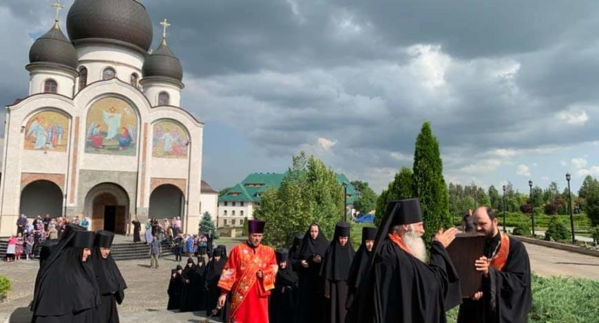 Марфо-Мариинский женский монастырь, Молдова. Встреча иконы Умягчение злых сердец.