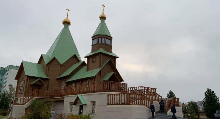 Радуйся Радостей наша, покрый нас от всякого зла Честным Твоим Омофором.  Троицкая церковь.
