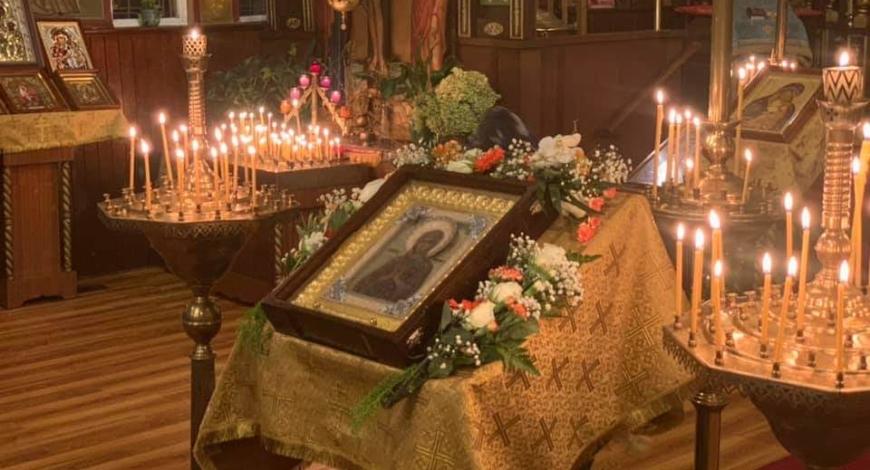 Молебен с чтением акафиста иконе Божией Матери Умягчение злых сердец. Гамильтон, Онтарио, Канада.