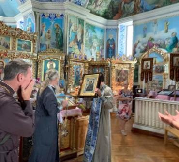 Первая Литургия в путешествии иконы Умягчение злых сердец на Крымской земле!